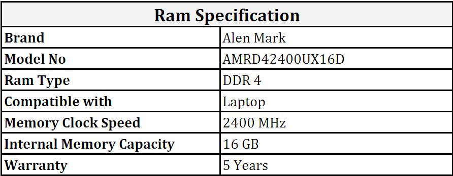 Alen_Mark_DDR4_16GB_2400_MHz_Laptop_Ram_(AMRD42400UX16D).PNG