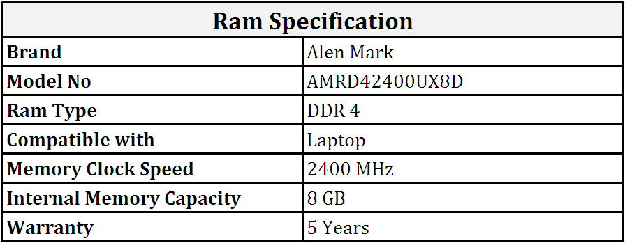 Alen_Mark_DDR4_8GB_2400_MHz_Laptop_Ram_(AMRD42400UX8D).PNG
